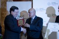 Giving of the the 'Prix de la Fondation' 2014 of the Crans Montana Foundation to José Manuel Barroso, President of the EC