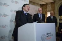 Giving of the the 'Prix de la Fondation' 2014 of the Crans Montana Foundation to José Manuel Barroso, President of the EC