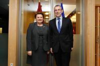 Visite of Laimdota Straujuma, Latvian Prime Minister, and Maija Manika, Latvian Deputy State Secretary for European Affairs, to the EC
