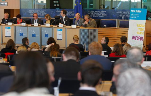 Public hearing before the EP of the European Citizens' Initiative 'One of Us'