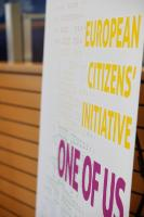 The poster of the European Citizens' Initiative 'One of Us'
