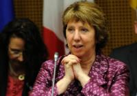Catherine Ashton, in the foreground