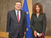 H.E Ambassador Len Monica Ishmael, Head of the Missions of  Saint Kitts and Nevis, Saint Lucia, Saint Vincent and the Grenadines, and Commonwelt of Dominique to the EU, on the right , and  José Manuel Barroso
