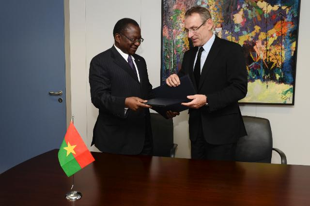 Signing ceremony of the National Indicative Programme for Burkina Faso under the 11th EDF for the period 2014-2020