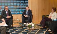 """Illustration of """"Visite de Michel Platini, président de l'UEFA, à la CE"""""""
