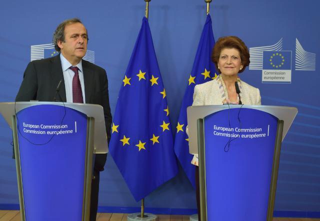 Visite de Michel Platini, président de l'UEFA, à la CE