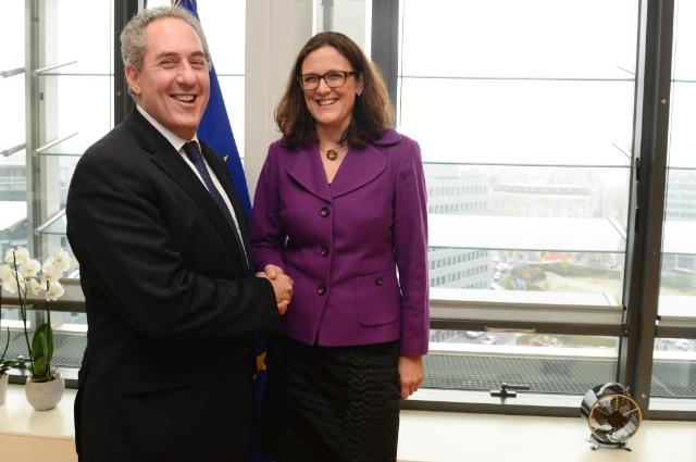 "Illustration of ""Visit of Michael Froman, US Trade Representative, to the EC"""