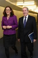 """Illustration of """"Visit of Michael Froman, US Trade Representative, to the EC"""""""