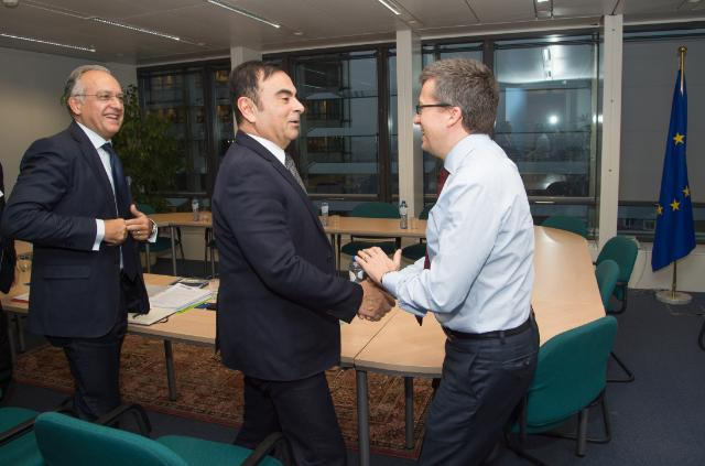 Visit of Carlos Ghosn, CEO of the Renault-Nissan Alliance, to the EC