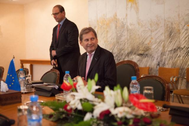 Visit by Johannes Hahn to Rabat