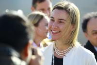 Federica Mogherini, in the centre