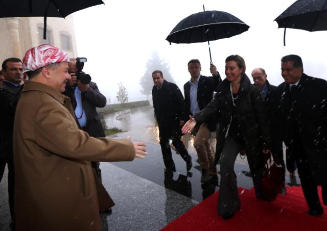 Visite de Federica Mogherini, vice-présidente de la CE, en Iraq