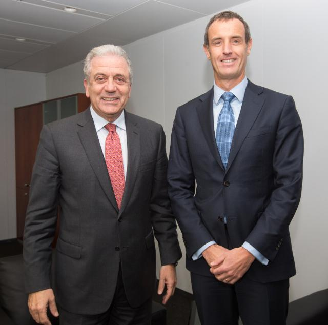 Vist of Rob Wainwright, Director of Europol, to the EC