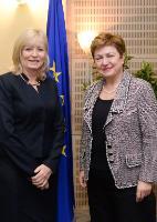 """Illustration of """"Visite d'Emily O'Reilly, médiateur européen, à la CE"""""""