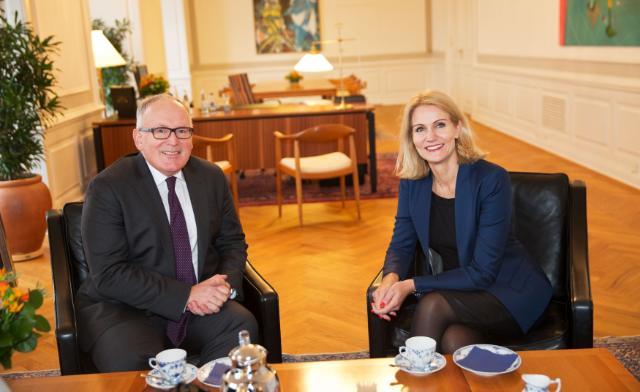 Visite de Frans Timmermans, premier vice-président de la CE, au Danemark