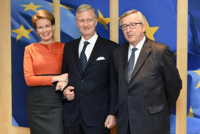 Visit of Philippe and Mathilde, the King and Queen of the Belgians, to the EC