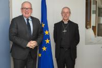 """Illustration of """"Visit of Justin Welby, Archbishop of Canterbury, to the EC"""""""