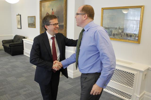 Visite de Carlos Moedas, membre de la CE, au Royaume-Uni