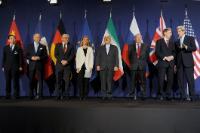 """Illustration of """"Participation de Federica Mogherini, vice-présidente de la CE, aux négociations avec l'Iran sur le..."""