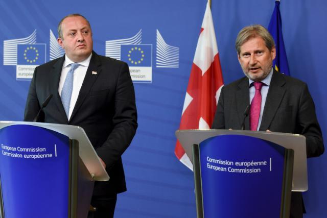 Visite de Giorgi Margvelashvili, président de la Géorgie, à la CE