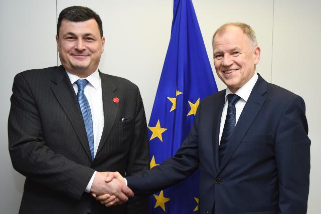 Visite d'Aleksander Kvitashvili, ministre ukrainien à la Santé, à la CE