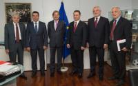 Visit of the leaders of the four main political parties of the former Yugoslav Republic of Macedonia, to the EC