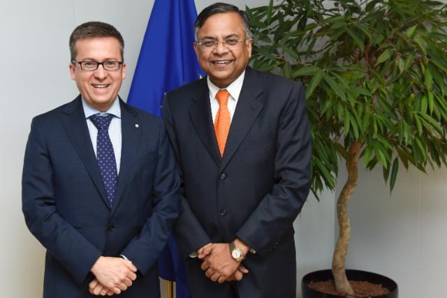 Visit of Natarajan Chandrasekaran, CEO and Managing Director of Tata Consultancy Services, to the EC