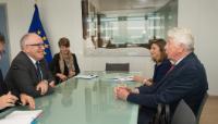 Visite de Wim Kok, ancien Premier ministre néerlandais, à la CE