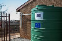 A water harvesting tank in the Khangezile Primary School