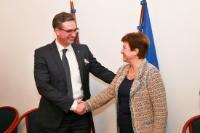 Visit of Kristalina Georgieva, Vice-President of the EC, to the Czech Republic