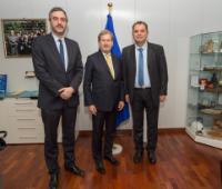 Visite de Marko Čadež, président de la Chambre de commerce et d'industrie serbe, et Safet Gërxhaliu, président de la Chambre du commerce du Kosovo, à la CE