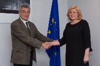 Visit of Spyridon Galinos, Mayor of Lesbos, to the EC