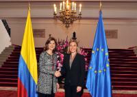 Visite de Federica Mogherini, vice-présidente de la CE, en Colombie