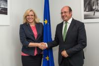 Visit of Pedro Antonio Sánchez, President of the Regional Government of Murcia, to the EC