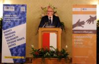 Participation of Frans Timmermans, First Vice-President of the EC, in the Fundamental Rights Forum 2016