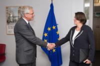 Visite de Kris Peeters, vice-Premier ministre belge et ministre de l'Emploi, de l'Economie et des Consommateurs, chargé du Commerce extérieur, à la CE