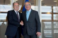 Visite de Romano Prodi, ancien président de la CE et ancien Premier ministre italien, à la CE