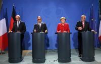 Participation de Jean-Claude Juncker, président de la CE, à un débat avec des membres de la Table ronde européenne des industriels