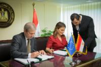 Visite de Johannes Hahn, membre de la CE, en Egypte