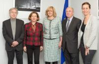Visite des sénateurs français à la CE