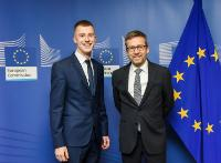 Visit of Modestas Gudauskas, winner of the European Union Contest for Young Scientists (EUCYS), to the EC