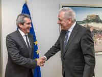 Visit of Giorgos Hatzimarkos, Governor of the Southern Aegean Region, to the EC