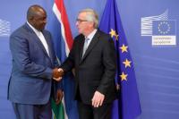 Visite de Adama Barrow, président de Gambie, à la CE
