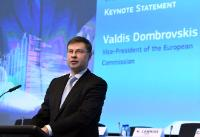 Valdis Dombrovskis, Vice-President of the EC, at the #FinTechEU Conference