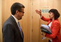 Conférence de presse conjointe de Carlos Moedas, membre de la CE, Valeria Nicolosi et Peter H. Seeberger, à l'occasion du dixième anniversaire du CER