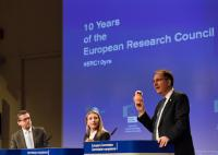 Joint press conference by Carlos Moedas, Member of the EC, Valeria Nicolosi and Peter H. Seeberger, on the occasion of the 10th anniversary of the European Research Council
