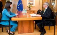 Meeting between Mariya Gabriel, Commissioner proposed by Bulgaria to replace Kristalina Georgieva, and Jean-Claude Juncker, President of the EC