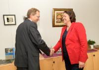 Visite d'Henri Poupart-Lafarge, président et PDG d'Alstom, à la CE