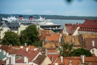 Typical landscapes of Tallinn, Viljandi, Pärnu and Kihnu (Estonia)