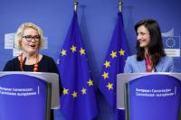 Joint press conference by Mariya Gabriel, Member of the EC, and Miapetra Kumpula-Natri, Member of the EP, on a Flash Eurobarometer survey on the end of roaming charges in the EU and on first observations from mobile operators
